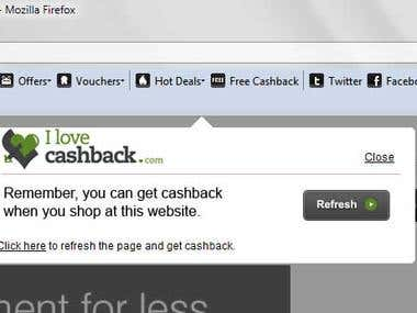 ILoveCashback Toolbar For FireFox