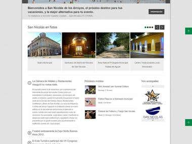 Web page for San Nicolás city