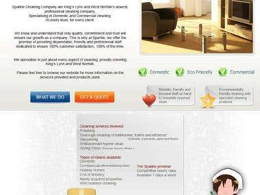 Sparkle Cleaning Website