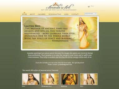 Ananda's Art website - http://anandasart.com