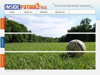 Futbol Splash Page