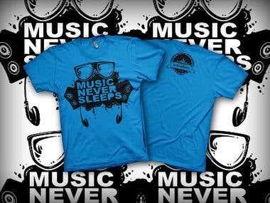 Music Never Sleeps (Blue)