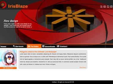 IrisBlaze.com new design