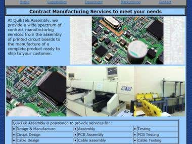 Contract manufacturing website