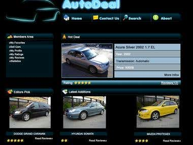 Cars website template