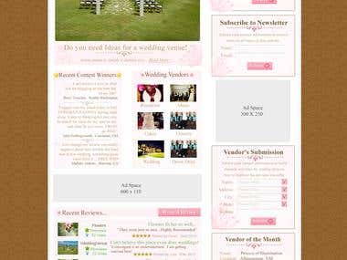 Web Design For WeddingAdvisor.com