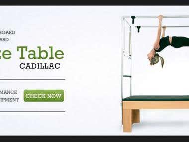 Slider and top banner for a health equipment company