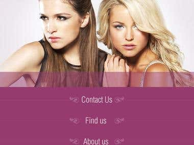 Secretstylist - Create Web site concept and User experience.
