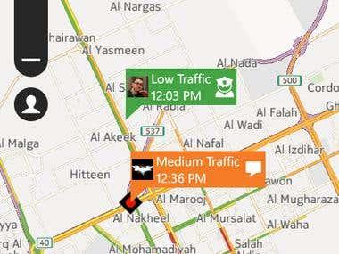 WP8 Social Traffic App