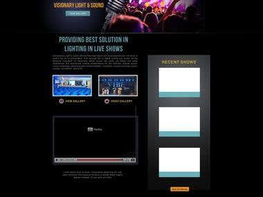 DJ firm in Kuwait. web mockup