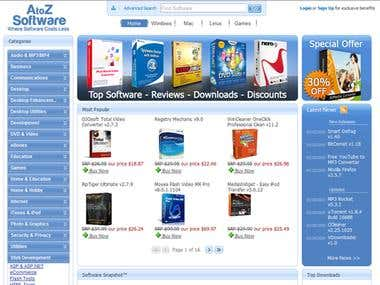 Internet store for freeware and shareware software