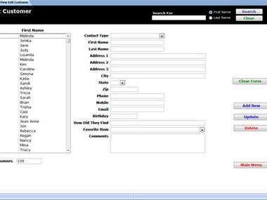 Sample Access Database
