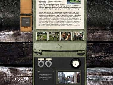 Web design for Army summer camp East Point
