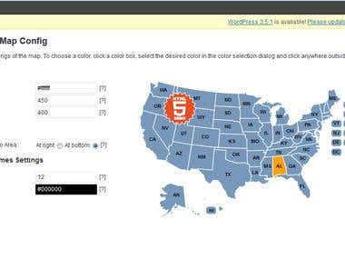 HTML5 USA Map (Wordpress plugin)