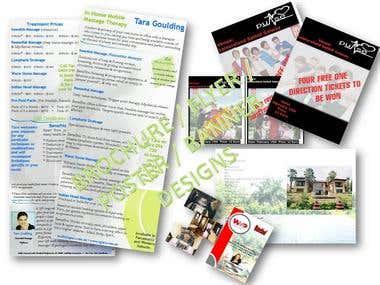 Samples of Work - Flyers & Brochures