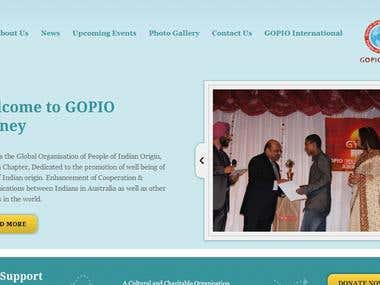 GOPIO Sydney, a Wordpress Wesbite for an NGO based in AUS