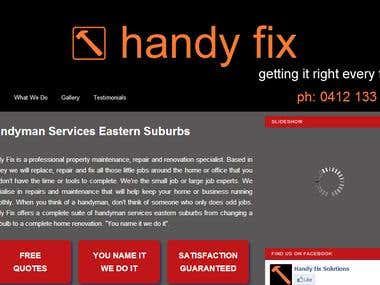 Handy Fix Website for Handyman Services in Australia