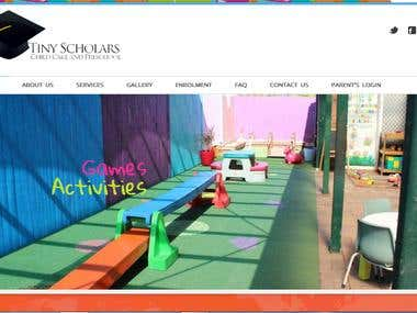 Tiny Scholars Children Website