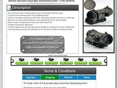 eBay template