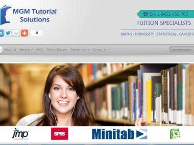 MGM Tutorials Website for Tutors based in Australia