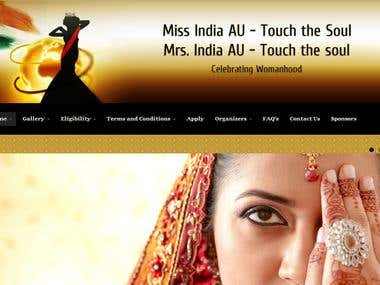 Miss India AU, a pageant website for Australian Womens