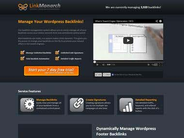 Link Monarch Landing Page Design