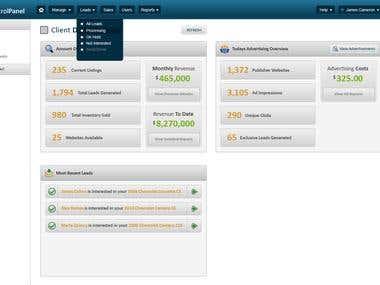 Blog Management System Control Panel