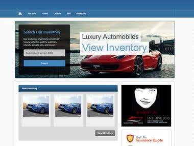 Luxury Website Full Site Design