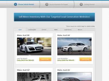 Luxury Website Order Page