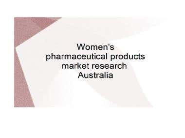Women's pharmacutical product market research