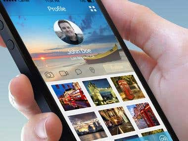 Social Photo Apps Mobile UI Design