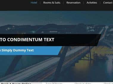 Hotels Rooms Booking Website
