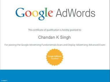 My Google AdWords Certificate