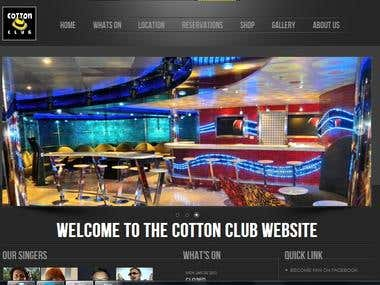 A night Club website in Joomla