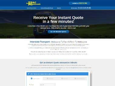 JRAC Removals Responsive Wordpress Design
