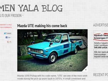 Pomen Yala - Wordpress Editing
