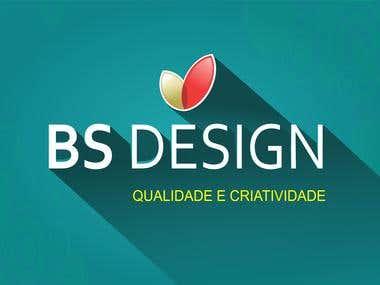 Logo logotipo BS design