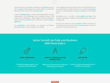 SernaConsult.com | Wordpress Custom Developemt