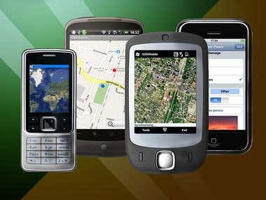 Gis4Mobile for iOS, Android, BlackBerry, Symbian, WM