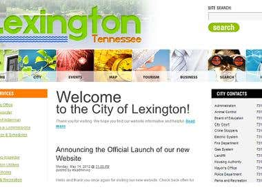 Website for the city of Lexington