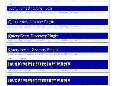 jQuery Fonts Directory Plugin