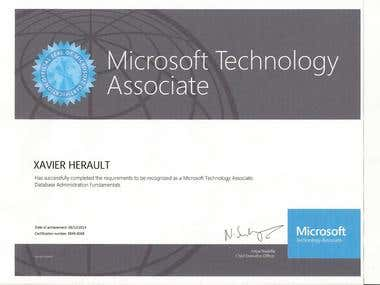 Microsoft Technology Associate in Database Administration