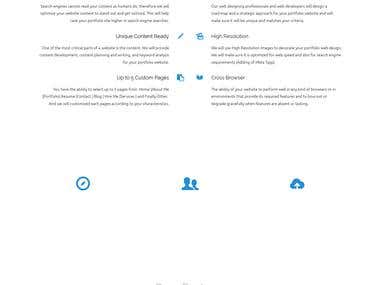 Landing Page Customized Portfolio Designing Service