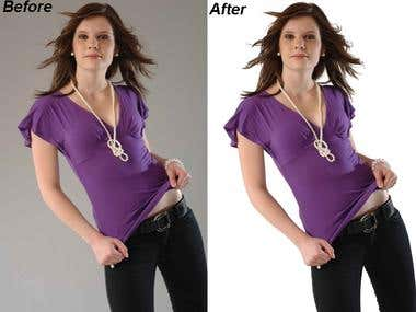 CLIPPING PATH OF HAIRS