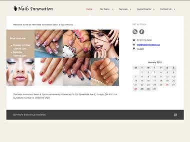 Nails Innovation website for local client