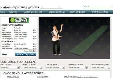 Birdieball indoor Putting Greens