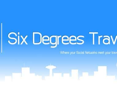 SIX DEGREES TRAVEL LOGO