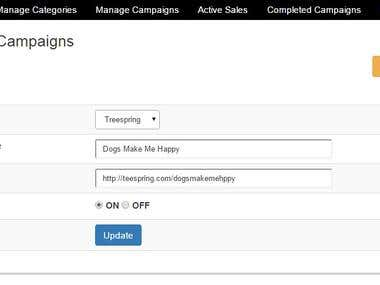 Campaign Tracking System with Scrapping