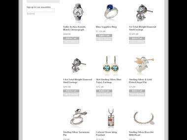 Complete Magento jwellery ecomerce site