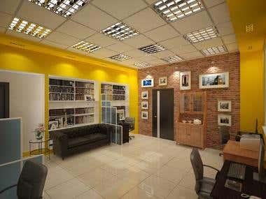 Interior design of the office